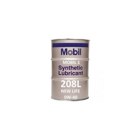 Mobil 1 New Life 0W-40 of 208L barrel