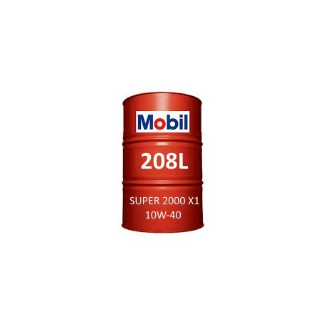 Mobil Super 2000 X1 10W-40 fût de 208 Litres
