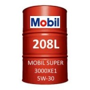 Mobil Super 3000 XE1 5W-30 of 208L barrel