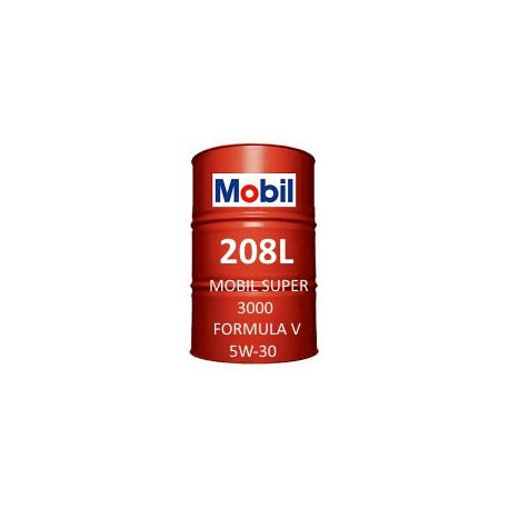 Mobil Super 3000 Formula V 5W-30 of 208L barrel