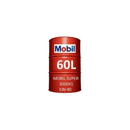 Mobil Super 3000 X1 5W-40 60L barrel