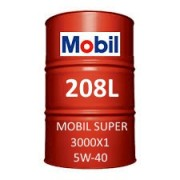 Mobil Super 3000 X1 5W-40 of 208L barrel