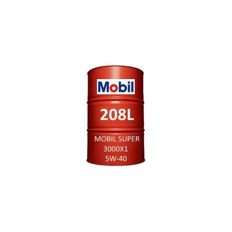 Mobil Super 3000 X1 5W-40 vat 208L