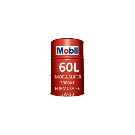 Mobil Super 3000 X1 Formula FE 5W-30 60L barrel