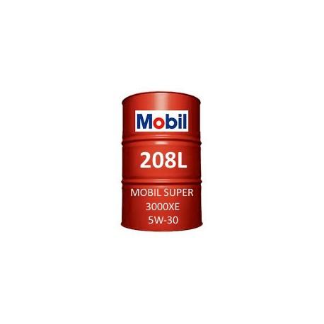 Mobil Super 3000 XE 5W-30 of 208L barrel